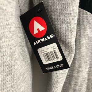 Airwalk Shirts - Air Walk Hoodie Gray and Black Sz L